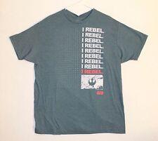 Star Wars Rouge One I Rebel T-shirt Men's Size 2XL Color Blue Gray