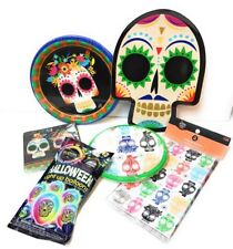 Dia De Los Muertos Party Pack Day Of The Dead Sugar Skulls Plates Balloons Cups