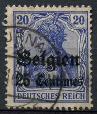 German Occupation 1914,  25c On 20pf Ultramarine Used #A80594
