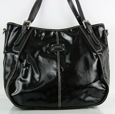 Tod's Tasche, Damen Handtasche, Schwarz, Gebraucht, Schultertasche, Weiße Naht