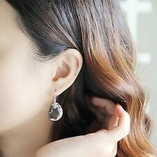 Rhinestone Fashion Women Crystal Pea Ear Stud Earrings Dangle Drop Hook