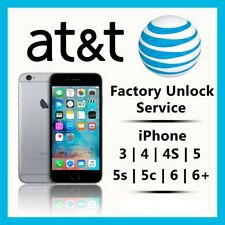 AT&T FACTORY UNLOCK CODE SERVICE ATT IPHONE 6 6+ 6S 5S 5C 5 4S 4PREMIUM SPEED