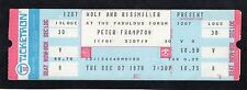 1976 Peter Frampton unused full concert ticket LA Forum Do You Feel Like We Do