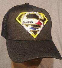 f23376a1b50 Pittsburg Steelers Football Hat Melange Trucker Mesh Snap Back Adjustable
