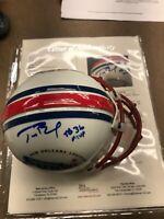"Tom Brady Signed Superbowl XXXVI Mini Helmet w/ ""SB 36 MVP Inscriptioin JSA Lett"