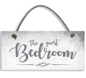 #1508 THE GUEST BEDROOM Shabby Chic Door Sign Plaque Sign for Bedroom