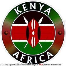 """KENYA Kenyan AFRICA African Vinyl Bumper Sticker, Decal 4"""" (100mm)"""