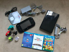 Nintendo Wii U 32GB Black Console Gaming System + 3 Games - Fast Dispatch