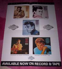 ROCK 'N' ROLL POSTER ~ Orig 1985 UK Promo. Eddie Cochran, Ricky Nelson etc. EX.