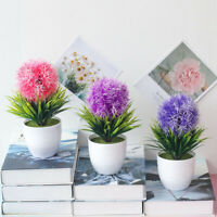 Artificial Fake Mini Bonsai Flower In Vase Pot Office Home Table Decoration New
