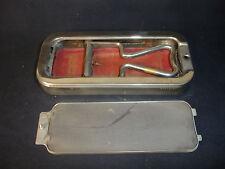 Old Vtg Rolls Razor Strop Honer & Blade Vault  England The Whetter Silver Tone