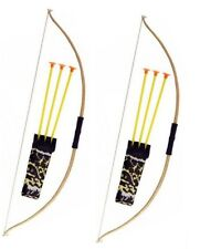 2x Kids Bow and Arrow Wild Set Play Set Toy Plastic Archery Game Outdoor Garden