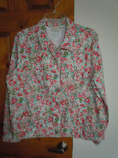 Tribal Jeans women's long sleeve button-down floral jacket size L