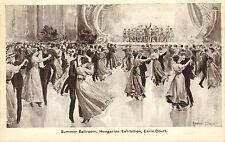 postcard - summer ballroom .hungarian exhibition earls court
