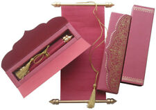 100Pcs Scroll Wedding Invitation Cards with Box Custom Personalized Printing