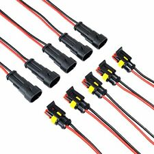 MUYI 5 Kit 2 Pin Way 20-16 AWG Waterproof Connector Wire Harness IP67 AMP Sup...