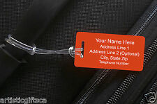 2 Personalized Engraved Plastic Luggage/Sport/I.D. Tags 20 Colors Free Engraving