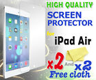 2 new High Quality Screen protective protection film foil for apple iPad Air