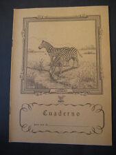 Antiguo Cuaderno Escolar de los años 60. CEBRAS