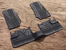 2007-2012 Jeep Wrangler Unlimited 4 Door Mopar Rubber Slush Floor Mats