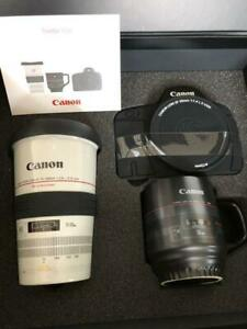 Canon official lens type mug cup limited gift set  Canon Premium Gift rare