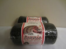 Lot of 2 rolls of Black 4mm Bonnie Braid Braided Macrame Craft Cord 200yds