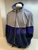 Mens Blue And Grey Vintage Full Zip Asics Track Top / Jacket Size XL