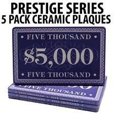 Prestige Series Ceramic Poker Chip Plaques $5000  Pack of 5