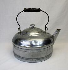 Antique Kettle with bail handle nickel plated copper Revere