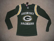 Nwt Green Bay Packers Football Womens Shirt Classic Style Long Sleeve Medium W@