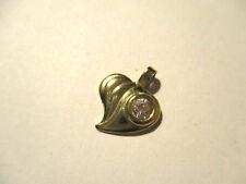 Ciondolo oro cuore con zircone. Heart gold pendant and zircon