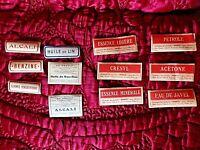 Lot de 12 anciennes étiquettes neuves-pots de pharmacie-vintage scratch booking