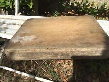 Ancienne Grande planche en bois à découper épaisse art populaire Billot Cuisine