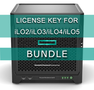HP iLO Advanced License Bundle (iLO 2 / iLO 3 / iLO 4/ iLO 5) + vSphere ESXi 6.x