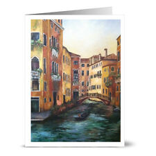 24 Note Cards - Venice Canal - Off White Ivory Envs