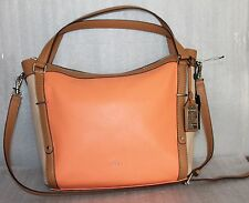 Ralph Lauren Women's Hobo Bags Grafton Felicity Hobo Leather Bags Apricot Color