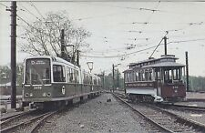 BOSTON        Brand new LRV # 3419 and 1900 Trolley # 396 at Riverside in 1977