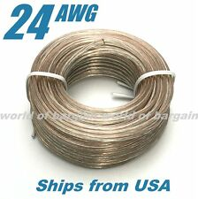50 feet 24 AWG Gauge Car Home Audio SPEAKER WIRE Cable Stranded Oxygen Free E073