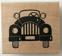 Retro Roadster Rubber Stamp R187 JRL Design Large 3.5 x 3 inches