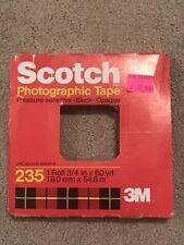 Scotch 3M Photographic Tape 235 3/4 in x 60 in Pressure Sensitive Black Opaque