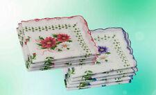Damen Taschentuch Tuch Tücher Taschentücher Weiß 10 Stück 28 x 28 cm