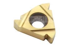 5 x Gewindeplatten 16ER-ISO-AG 60 (Teilprofil) Steigung 0,5-3,0mm P30-TIN