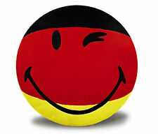 Nici Plush Smiley Pillow Germany Black Red Gold Round 35 cm