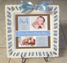 Personalized  Baby Newborn Birth Plate, Birth Announcement,  Christening Gift