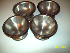 4 Vintage  Footed Bowls Possibly Halco no markings 3 5/8 wide 2 inch high