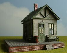 "Bar Mills Custom Built HO Scale Wood Model ""Springfield Station"""