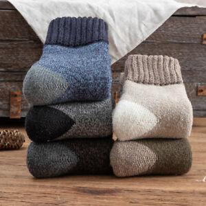 Mens Thicken Heavy Duty Woolen Boots Socks Winter Windproof Warmer Thermal Socks