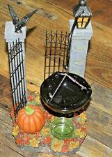Yankee Candle Halloween CROW and GATES Tart Warmer/Burner ~~New In Box~~ RARE!