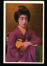 JAPAN BEAUTIFUL GEISHA GIRL POSTCARD E20C - JA275