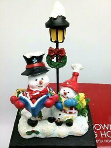 "NIB  Holiday Time Snowman Stocking Holder 5.5"" Christmas Holiday"